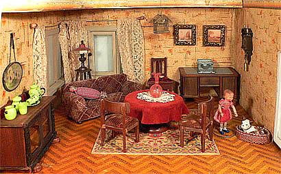 De poppenhuizen van dick en lia - Kamer deco stijl ...