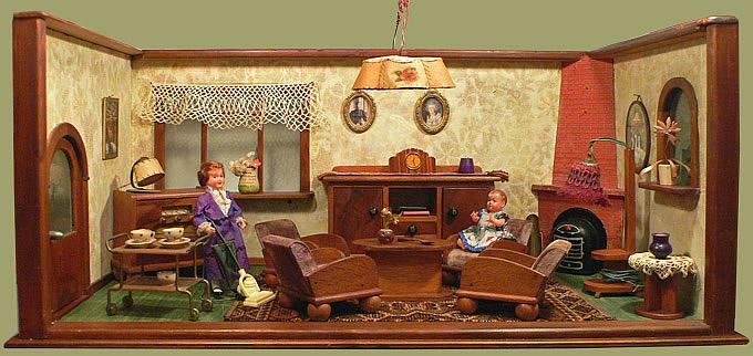De woonkamer boven en de keuken onder horen bij elkaar (jaren u0026#39;40-u0026#39;50 ...