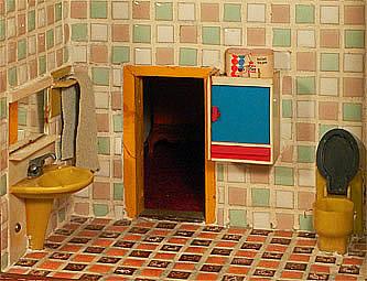 De poppenhuizen van dick en lia - Tegelvloer badkamer ...
